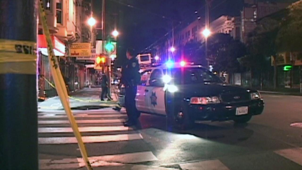 San Francisco police investigate shooting in the Mission District, Thursday, June 16, 2016.