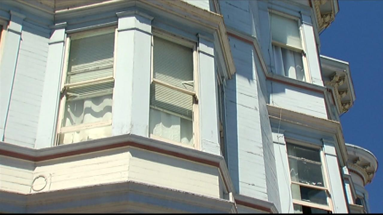 A San Francisco resident in this building, seen June 24, 2016, is fighting eviction after his landlord raised his rent from $1,800 a month to a whopping $8,000 a month.
