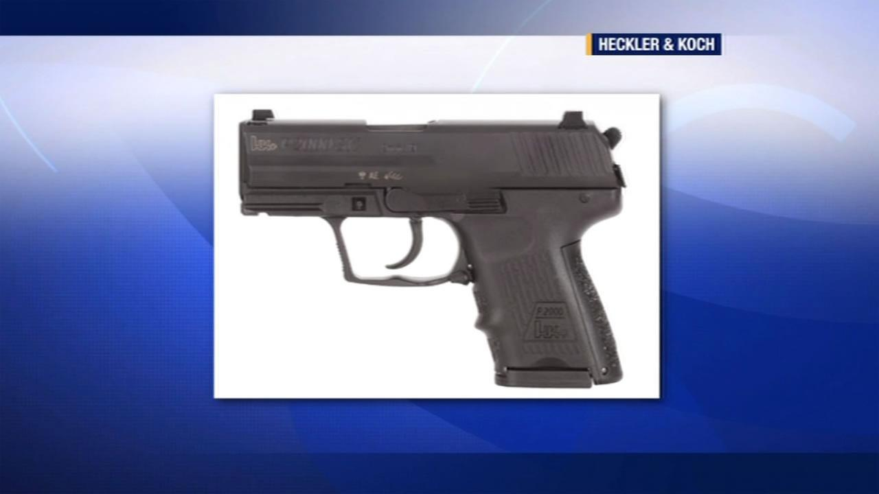 Hundreds of service weapons like this one have gone missing or have been stolen from law enforcement agencies since 2010, according to a report by the Mercury News.
