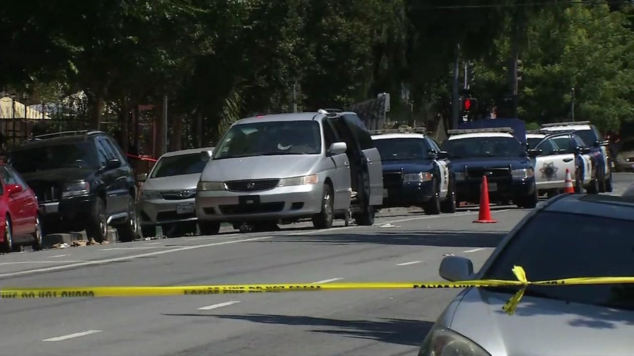 This image shows the scene of a shooting San Jose, Calif. on June 28, 2016.