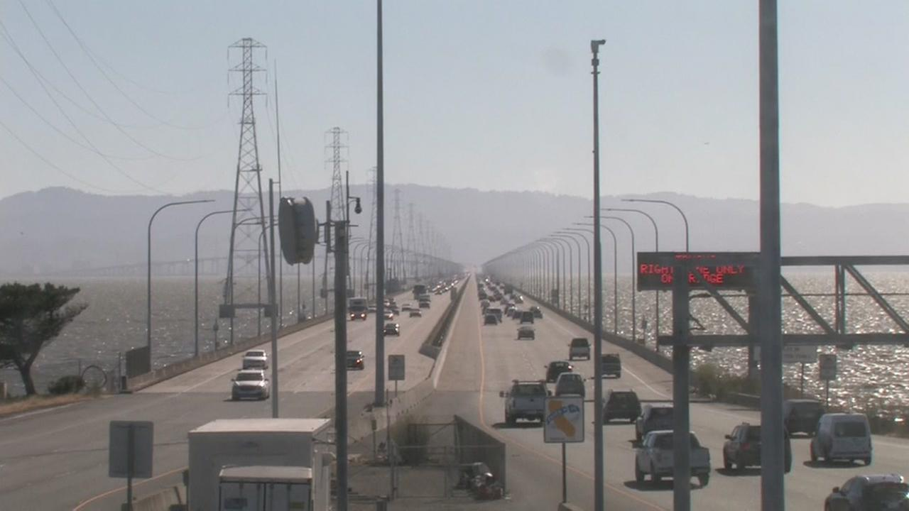 The San Mateo Bridge on Tuesday, July 12, 2016.