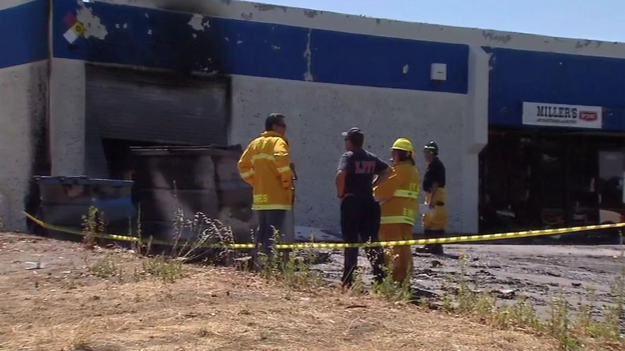 An overnight fire at a Livermore, Calif. business is being investigated on Wednesday, July 13, 2016.