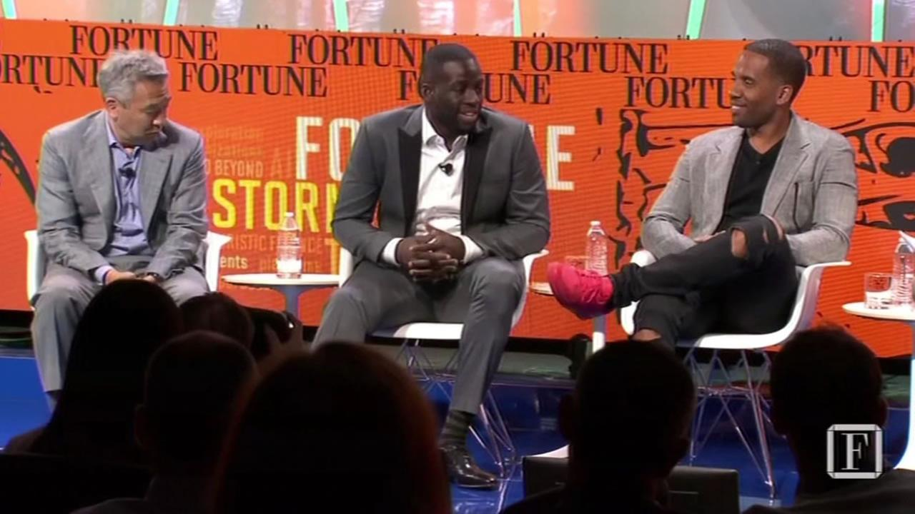 This image shows Warriors Draymond Green at a Fortune magazine tech event Tuesday July 12, 2016 in Aspen, Colorado.