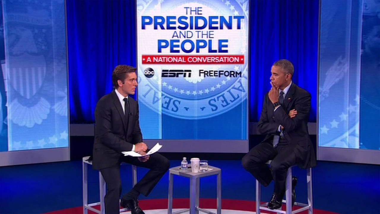 ABC News Anchor David Muir sits down with President Barack Obama for a national conversation on race and violence on Thursday, July 14, 2016.