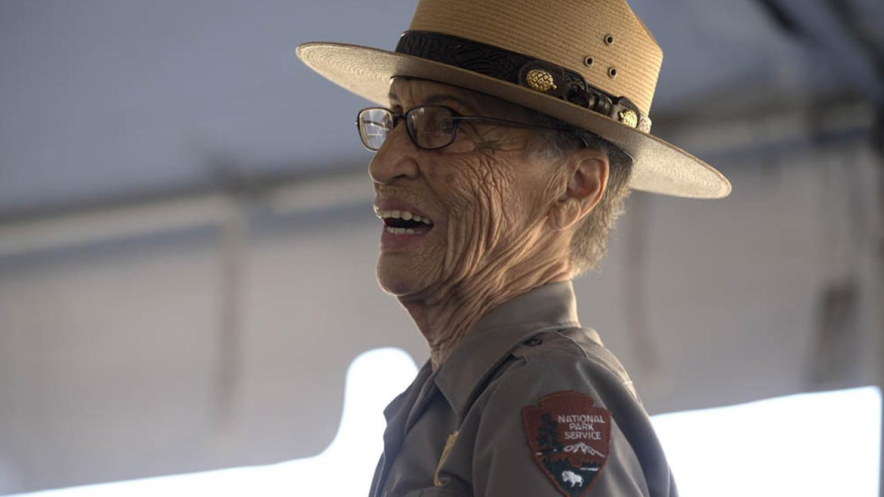 The National Park Services oldest park ranger, Betty Reid Soskin, received a new presidential coin on Sunday July 17, 2016 at the Concord Naval Weapon Station in Concord, Calif.
