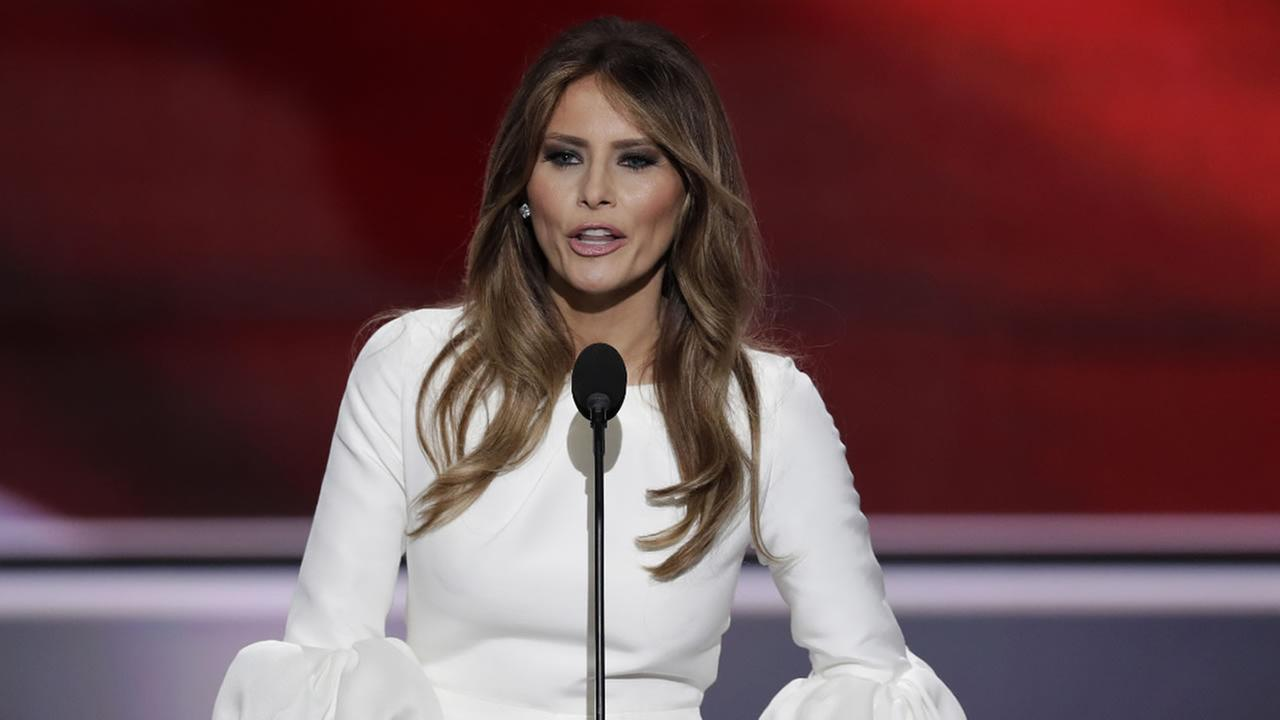 Melania Trump, wife of Republican Presidential Candidate Donald Trump, speaks during the opening day of the Republican National Convention in Cleveland, Monday, July 18, 2016.