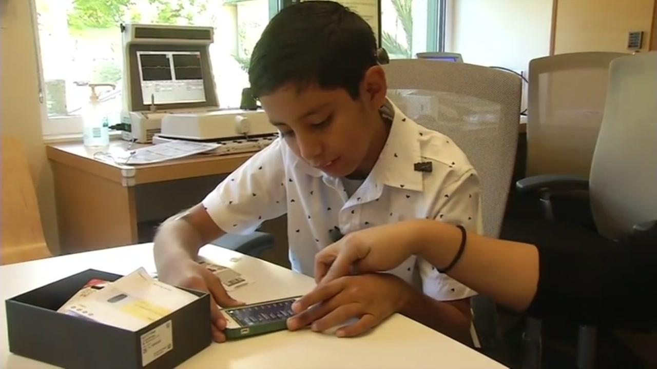 Joshua Gomez, 9, got his hearing back thanks to technology and a team of doctors at Stanford in Palo Alto, Calif. on July 21, 2016.