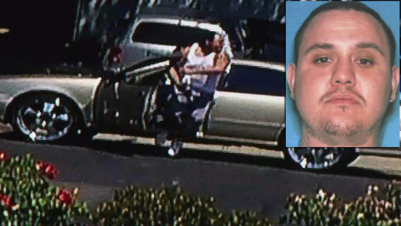 Suveillance police shows Humberto Martinez being chased by police in Pittsburg, California, Wednesday, July 27, 2016.