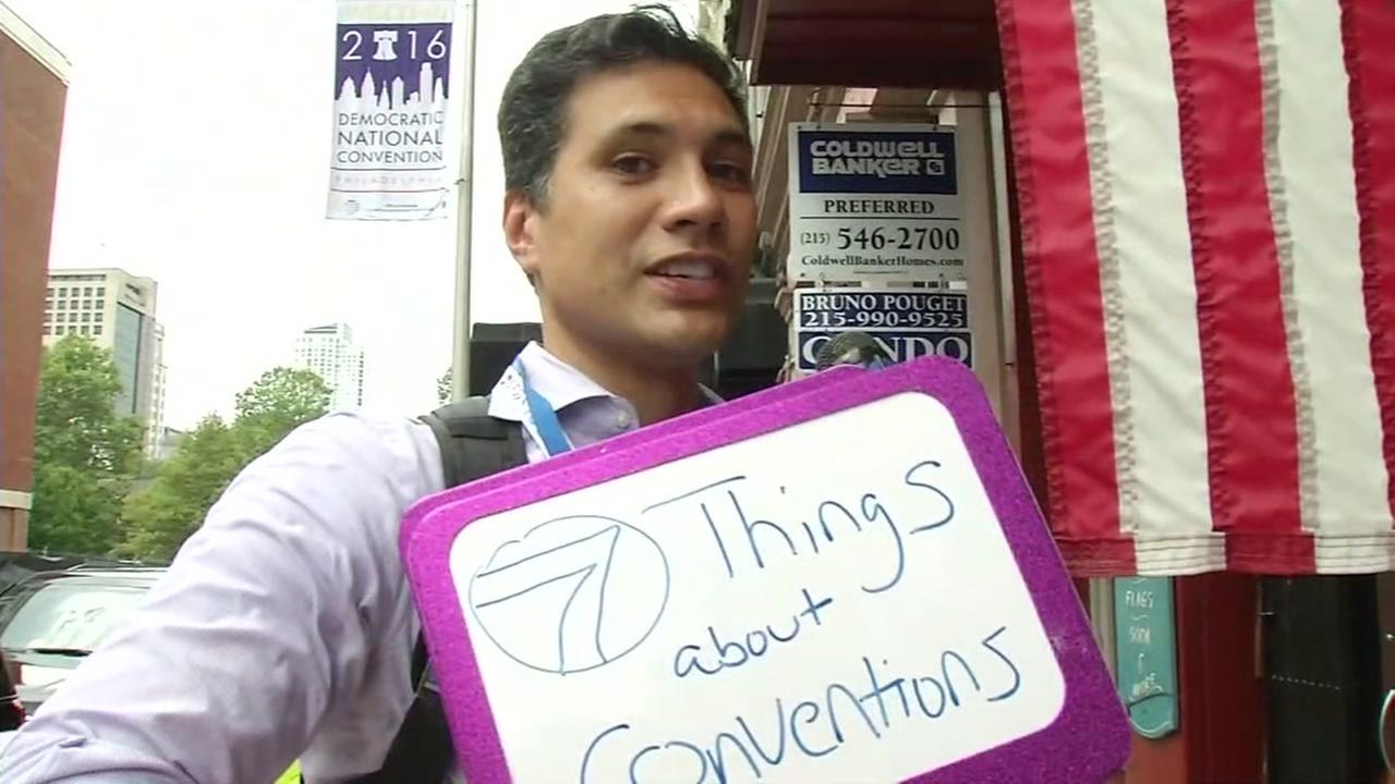 ABC7 Morning News Anchor Reggie Aqui set out to find 7 things people learned at the RNC and DNC in Philly on Friday, July 29, 2016.