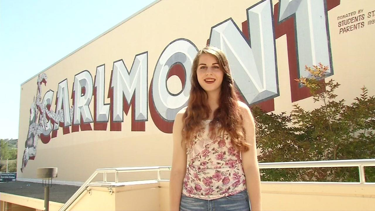 This undated image shows Carlmont High School graduate Sarah Schisla in Belmont, Calif.