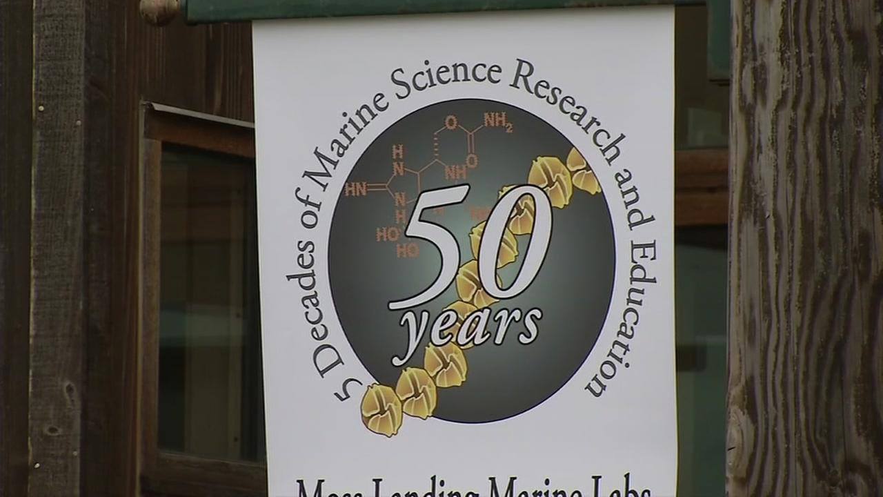 This image from August 4, 2016 shows a sign for Moss Landing Marine Labs in Moss Landing, Calif.