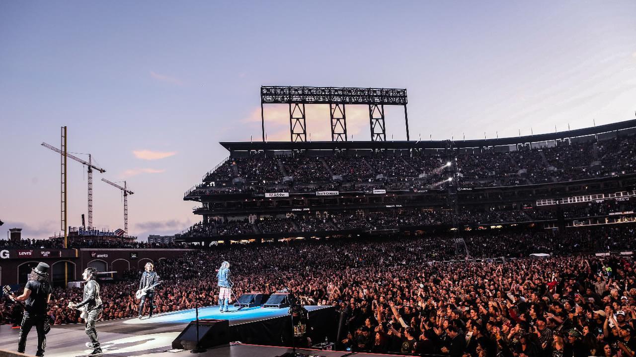 Guns N Roses play AT&T Park in San Francisco Tuesday, August 9, 2016.