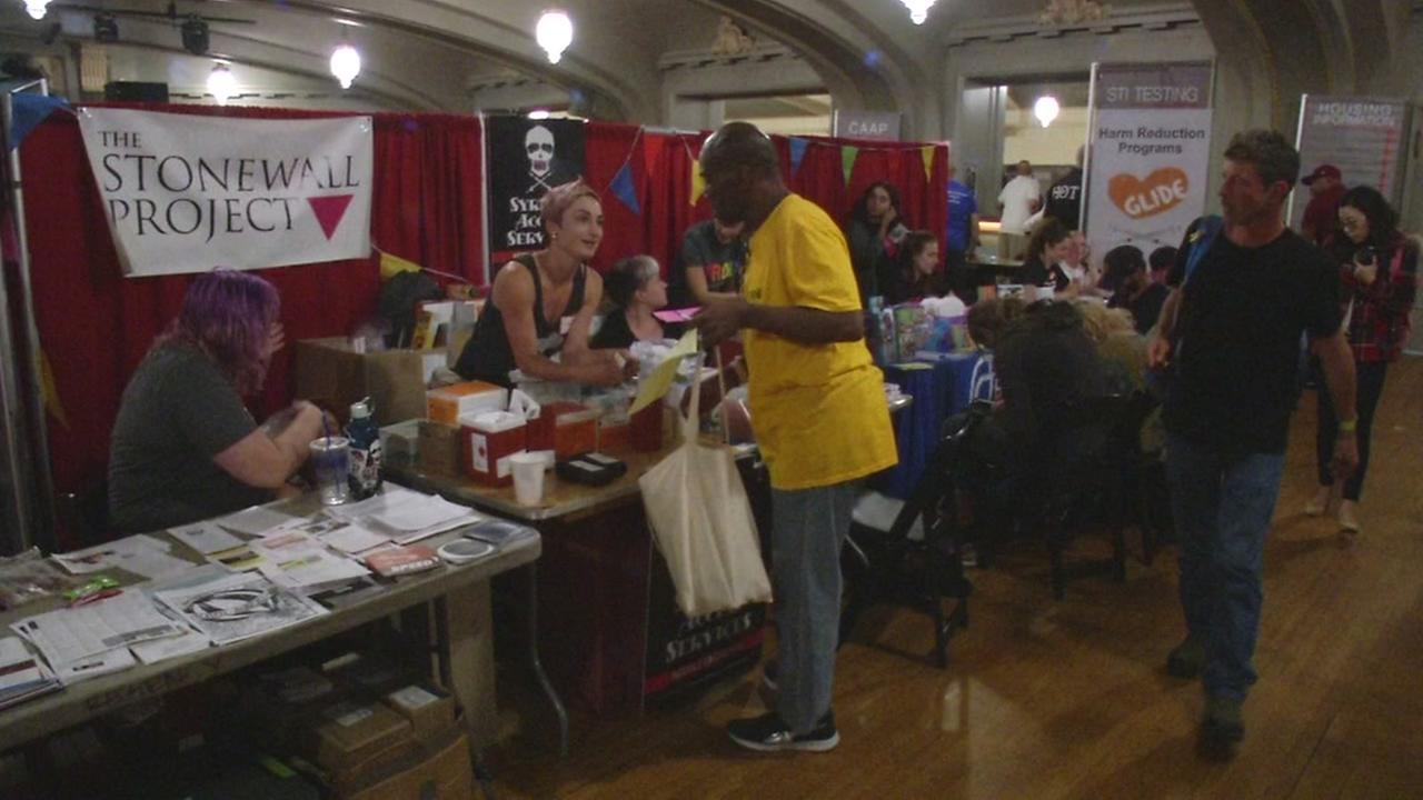 An event to help homeless members of the LGBTQ community have access to city services was held in San Francisco, Calif. on Wednesday, August 17, 2016.