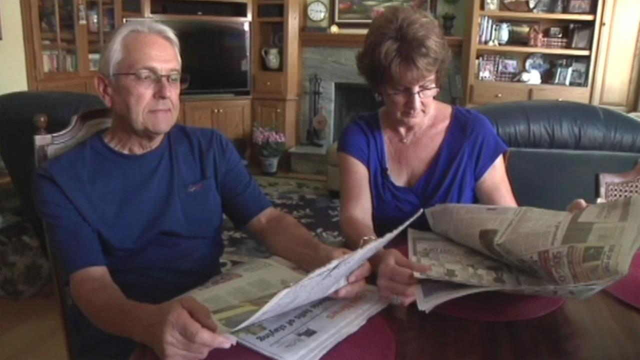 The Pacheco family reads the East Bay Times in their Pleasant Hill, Calif. home on Friday, August 19, 2016.