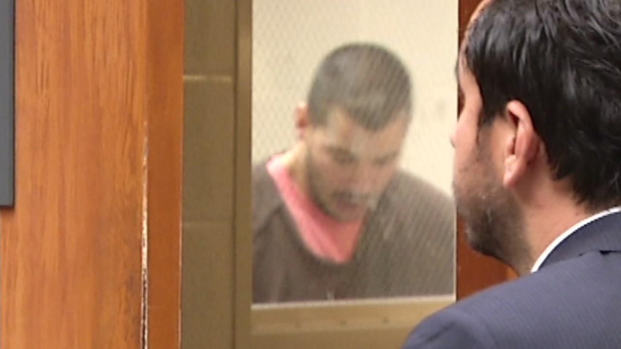 This image shows 32-year-old Matthew Zabala appeared in San Jose court August 26, 2016 after he was accused of beating his 6-week-old daughter Mila to death