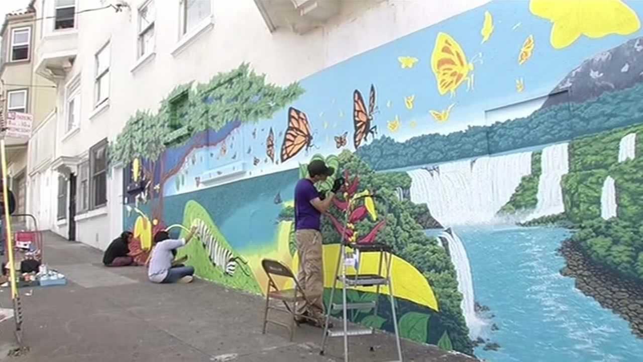 Artist Matt Christenson is bringing a little bit of South America to San Francisco.