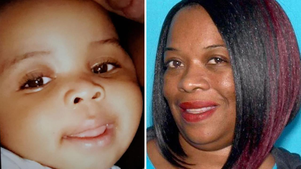An Amber Alert has been issued for 11-month-old William Brown (left). San Francisco police are also searching for the suspect, 44-year-old Phoebe Haynes (right).