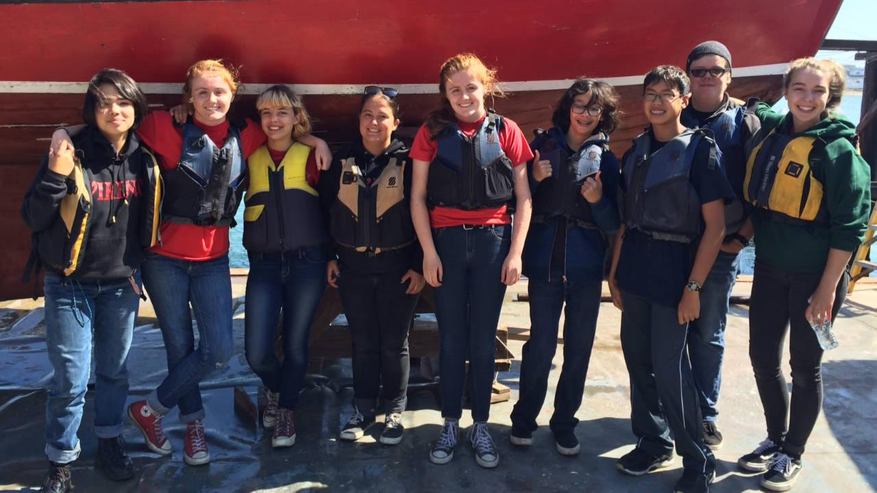 Some of the kids who were on the boat that capsized on Saturday, September 3, 2016, in the San Francisco Bay.