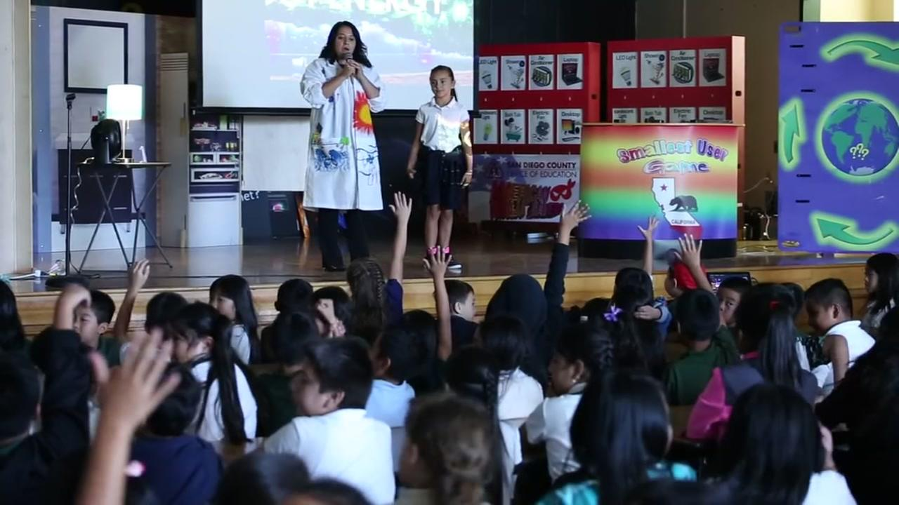 Fourth and fifth-graders at Robert F. Kennedy Elementary School in San Jose, Calif. learned about ways to save energy on Friday, September 9, 2016.
