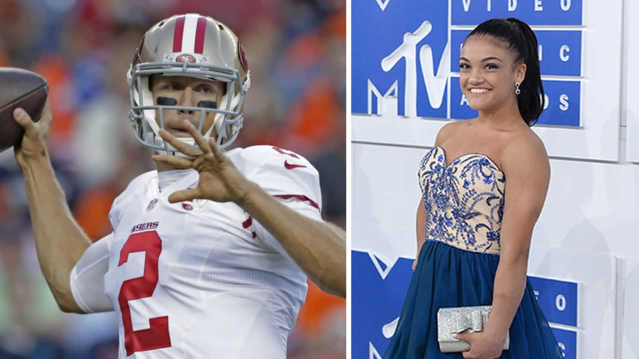 Laurie Hernandez is hitting the dance floor on Dancing With the Stars at 5 p.m. and Blaine Gabbert is starting QB as the 49ers take on the Rams at 7:30 p.m. Monday on ABC7.