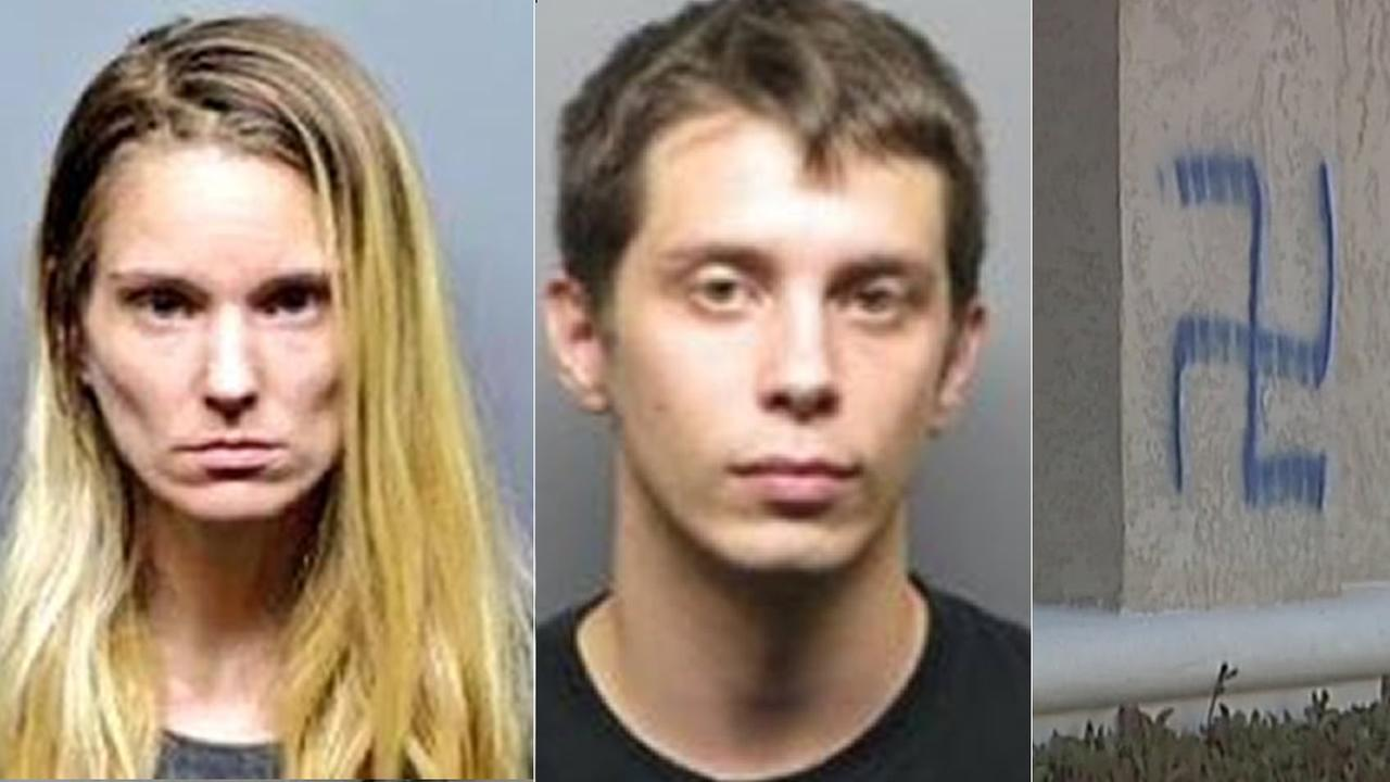 Police arrested Christyne McDaniel and Roy Sorvari in the Antioch hate crime case.
