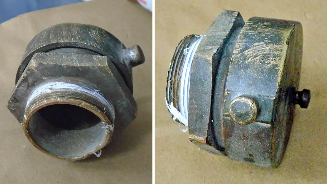 CHP officials believe a large brass bolt the size of a softball was responsible for an elderly drivers death on Highway 101 in Menlo Park, Calif. on Friday, September 16, 2016.