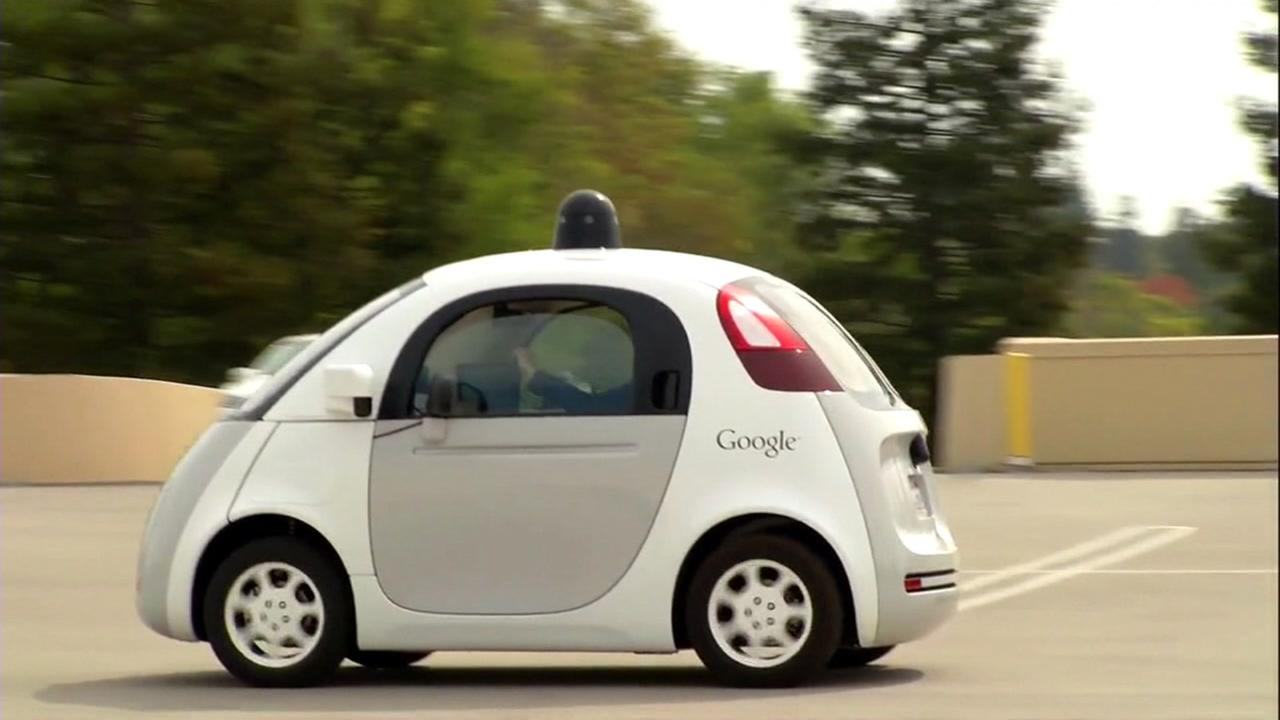 A Google self-driving car is seen in this undated image.
