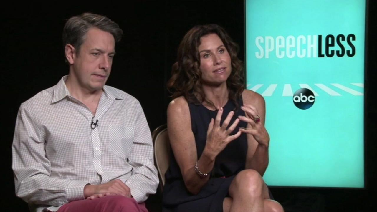 This undated image shows John Ross Bowie and Minnie Driver with ABCs comedy Speechless.