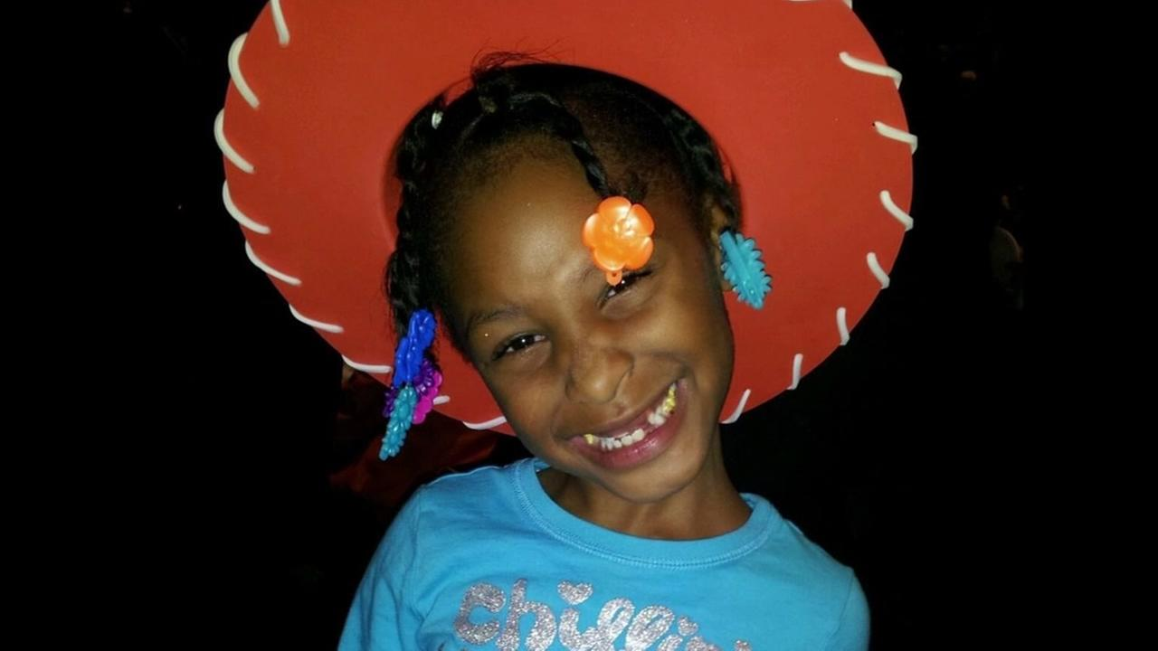 This undated image shows 8-year-old Alaysha Carradine, who was shot and killed in Oakland, Calif. in May, 2013.