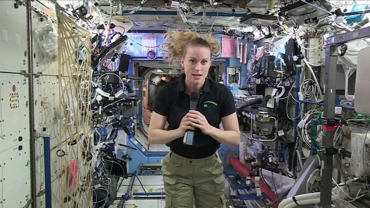Napa native and astronaut Kate Rubins speaks from aboard the International Space Station on Thursday, September 22, 2016.
