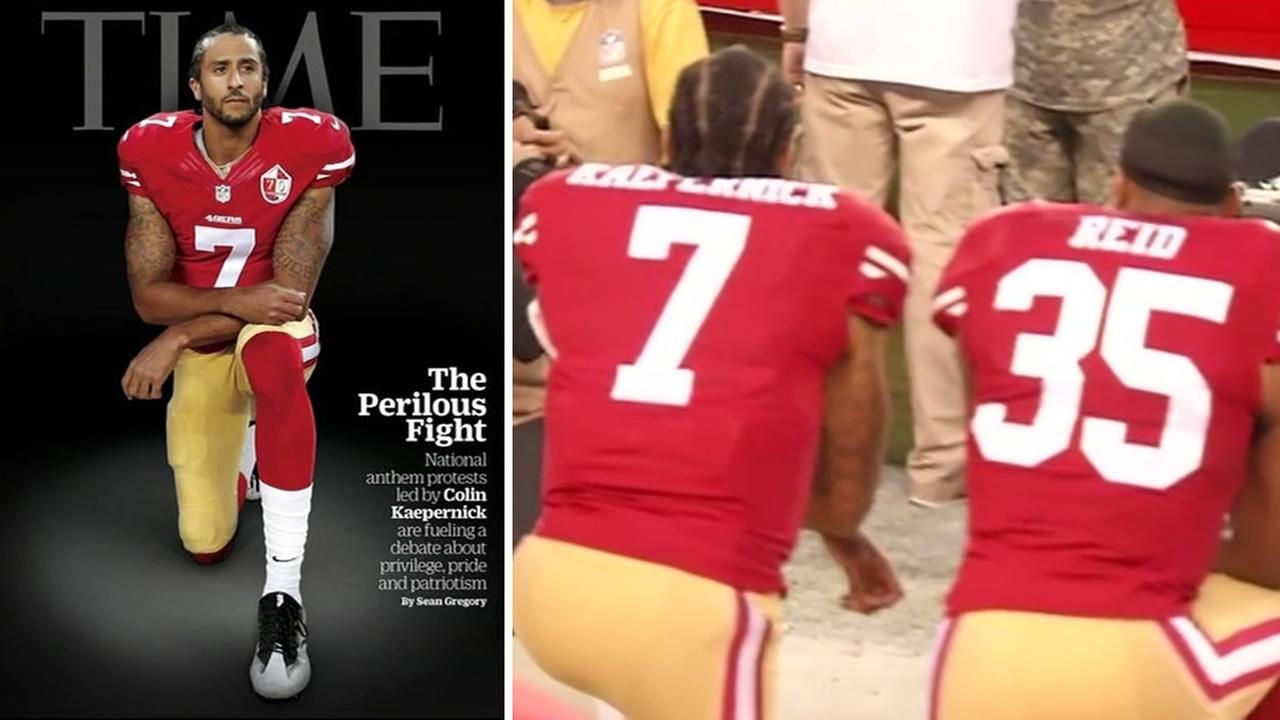 49ers quarterback Colin Kaepernick will appear on the cover of TIME Magazine on October 3, 2016.
