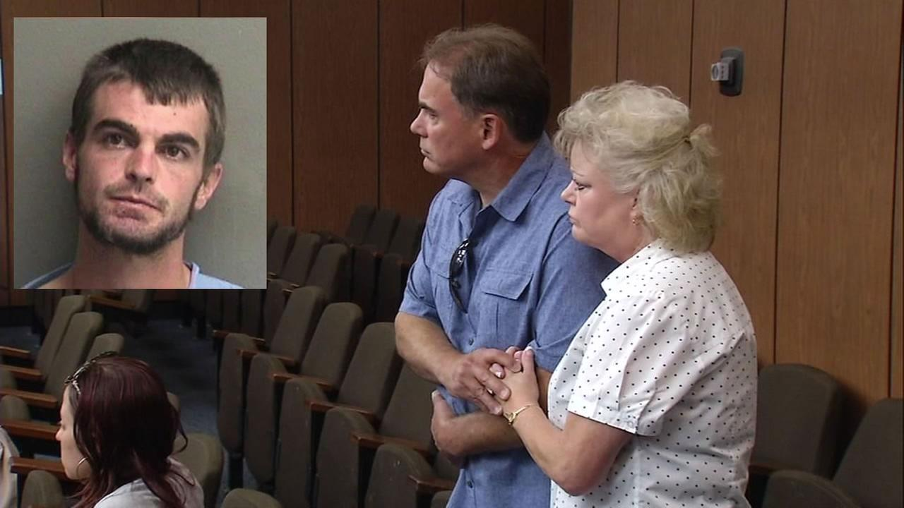 Jeffrey Chambers parents stand at his arraignment on Friday, September 23, 2016 in Hayward, Calif.