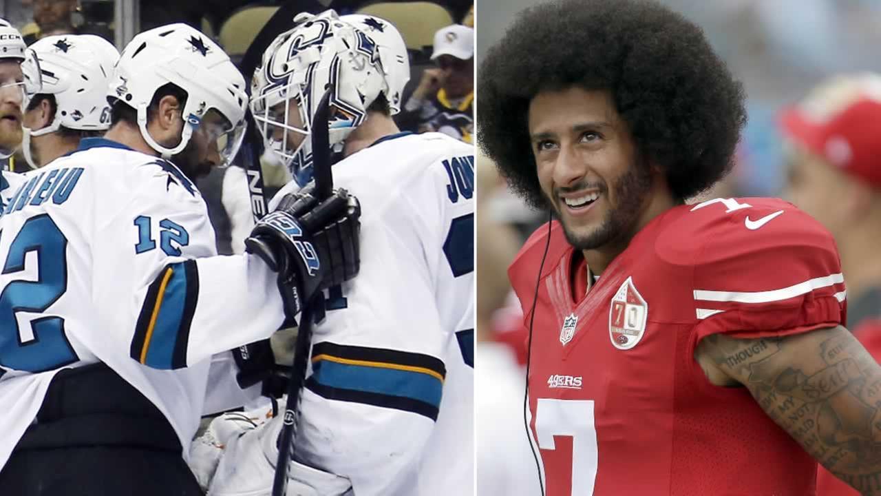 The San Jose Sharks discussed Colin Kaepernicks national anthem protest on Friday, September 23, 2016.