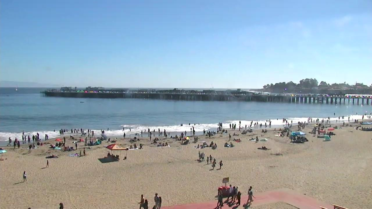 This image shows the beach in Santa Cruz, Calif. on Sept. 24, 2016.