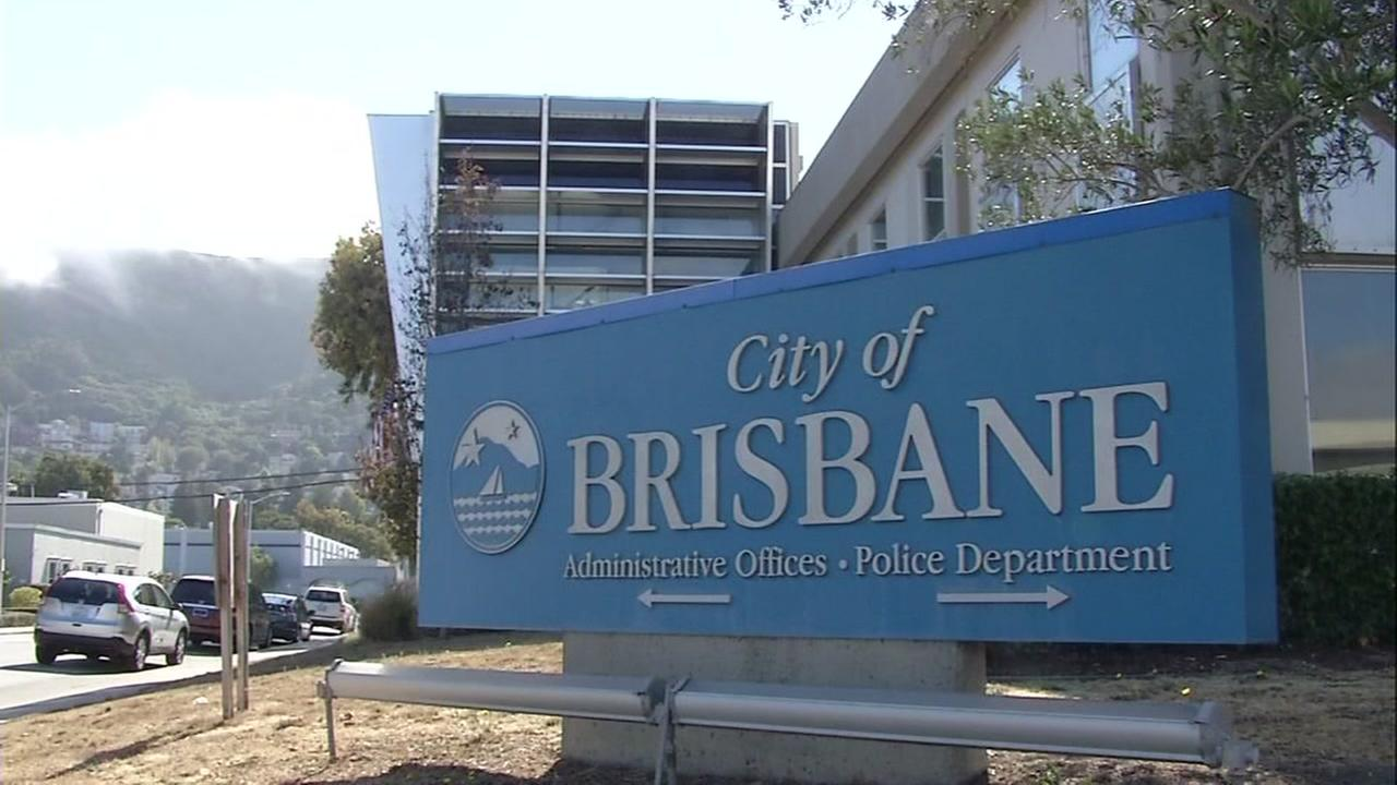 A sign for the City of Brisbane is seen on Thursday, September 29, 2016 in Brisbane, Calif.
