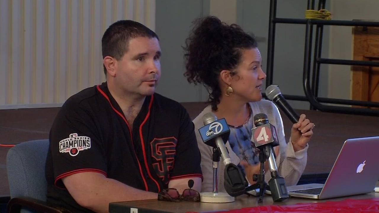 Giants fan Bryan Stow speaks to students at Westlake Elementary in Daly City, Calif. on Friday, September 30, 2016.