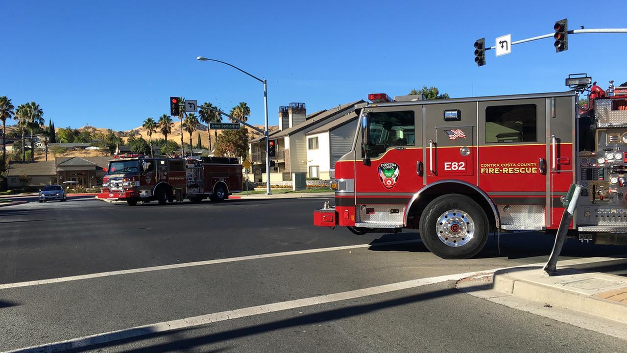 Hazmat situation in Antioch, California, Thursday, October 6, 2016.