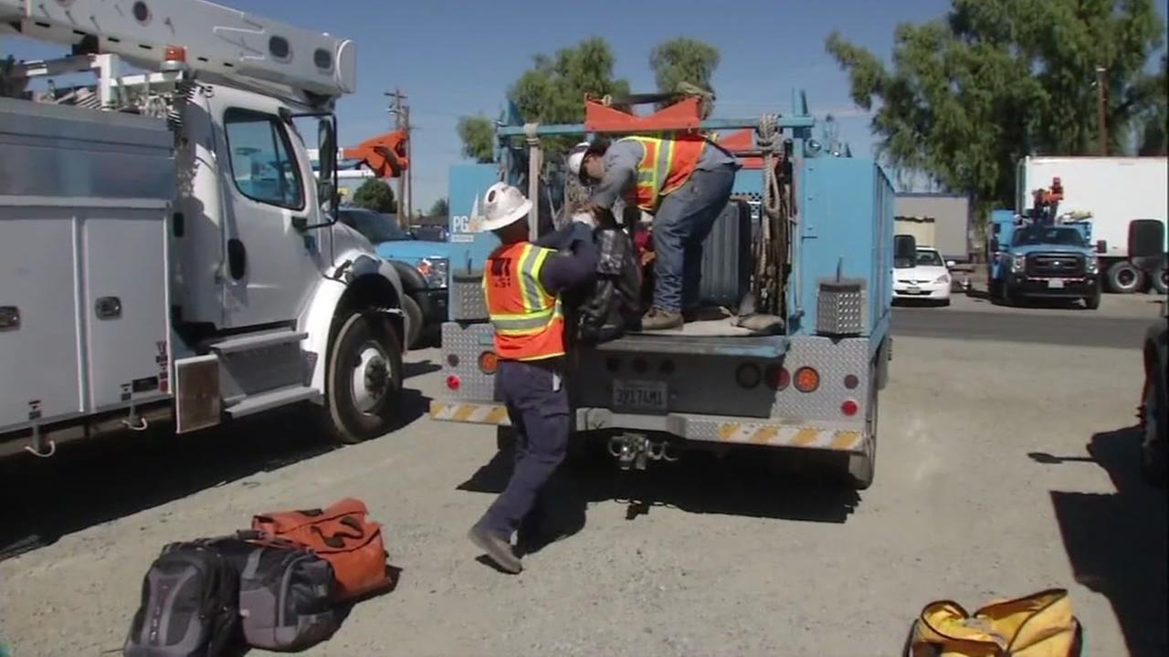 PG&E crews canceled plans to visit the hurricane zone in Florida on Fri., October 7, 2016.