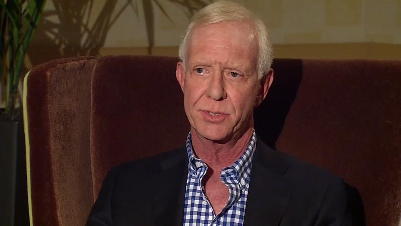 This image from October 2016 shows Sully Sullenberger as he was interviewed by ABC7s Dan Ashley in San Francisco.
