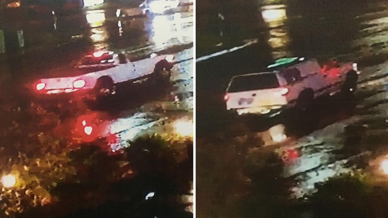 Detectives in San Mateo County need the publics help identifying two trucks at the scene of a deadly hit-and-run in Millbrae, Calif. on Saturday, Oct. 15, 2016.