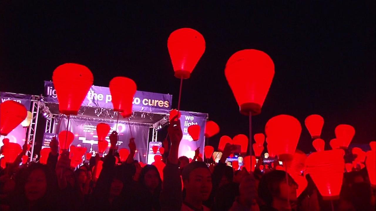 Light the Night Walk is held at Avaya Stadium in San Jose, Calif. on Saturday, October 23, 2016.