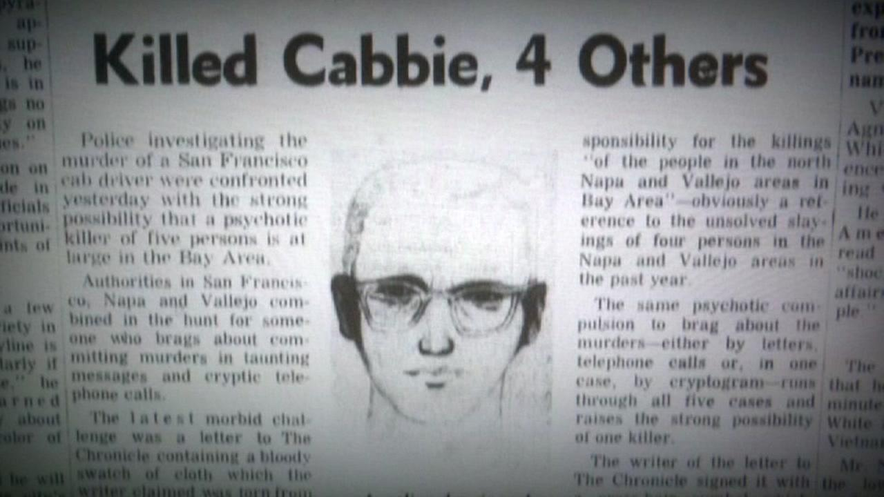This is an undated image of the Zodiac Killer sketch in a newspaper.