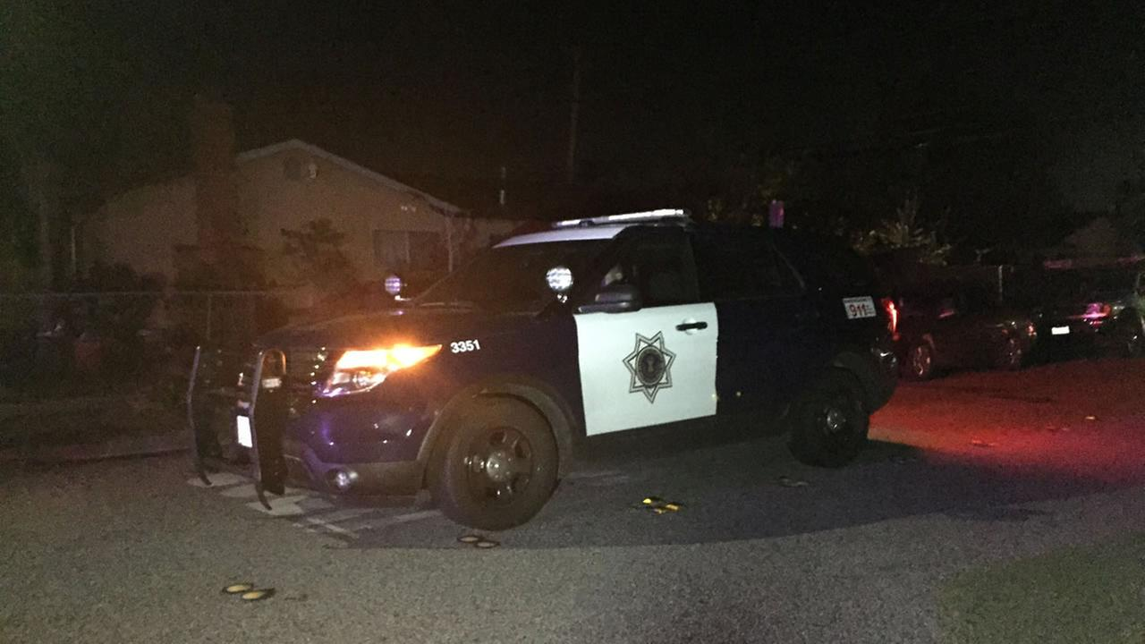 This image shows police investigating a homicide in San Jose, Calif. on Nov. 3, 2016.