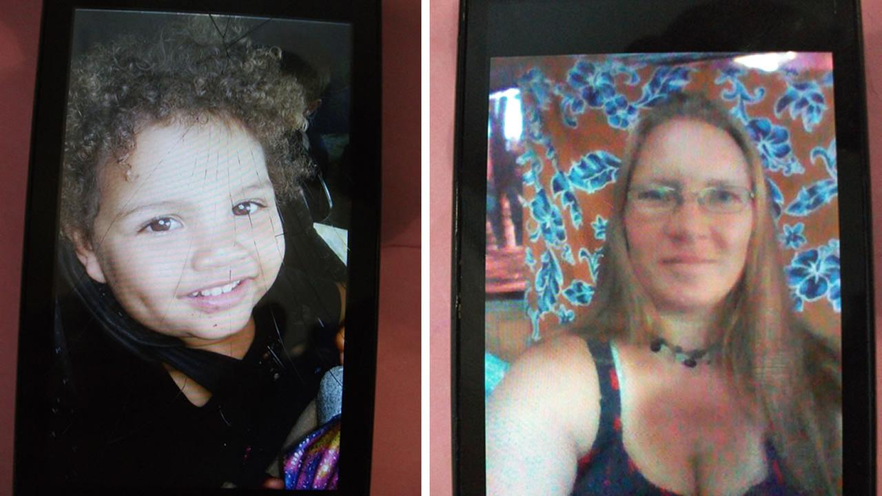 This image shows 2-year-old Ember Perryman who was last seen in Santa Cruz, Calif. with her mother, Heather Lara, who has no custodial right to the child.