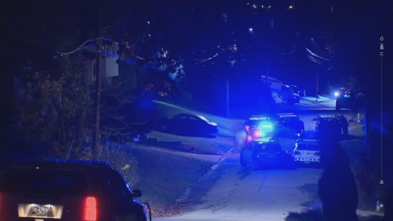 Two officers were shot while responding to a call in Canonsburg, Pennsylvania on Thursday, Nov. 10, 2016.