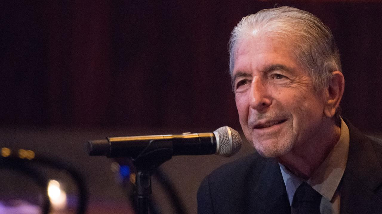Leonard Cohen attends a listening party for his new album Popular Problems on Thursday, Sept. 18, 2014 in New York.