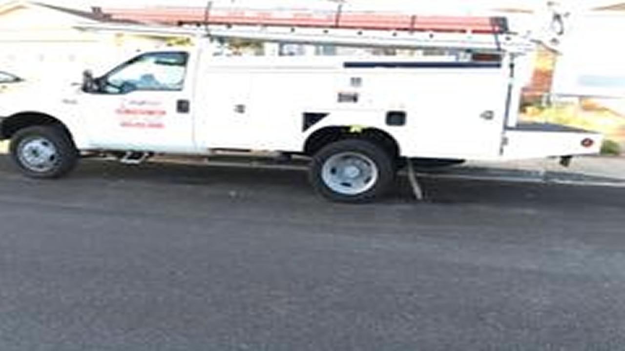 This is an undated image of a truck stolen in Fremont, Calif.