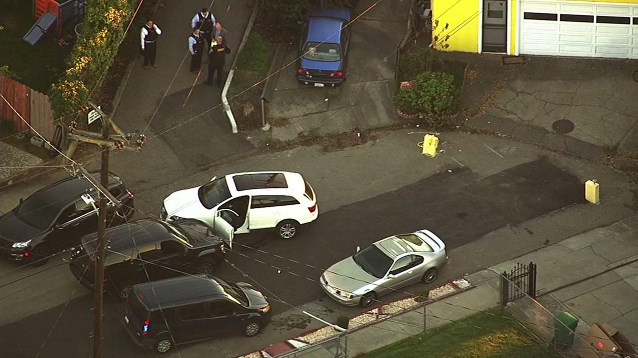 An officer involved shooting occurred on Romaldo Street and Maud Avenue in Hayward Calif. on Nov. 17, 2016.