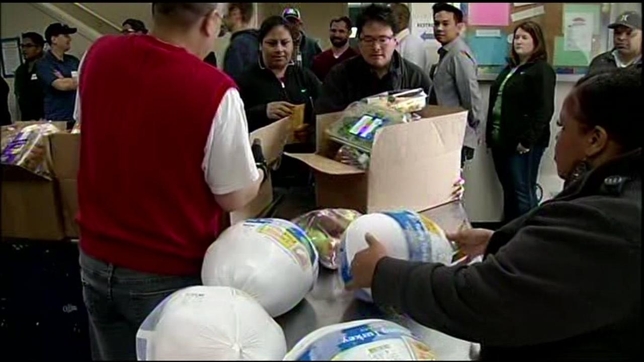 Sacred Heart Community Service food donations in San Jose, California, Monday, November 21, 2016.
