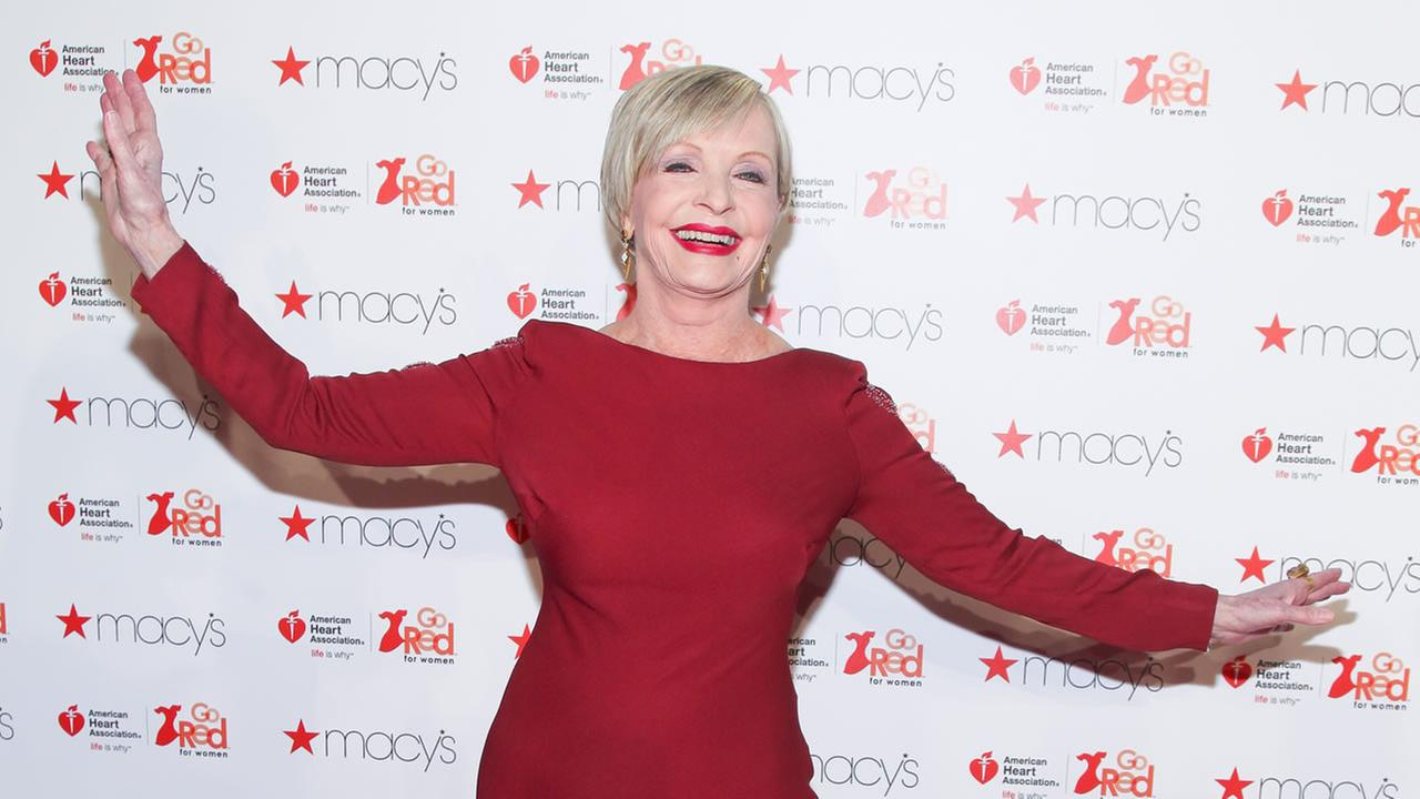 Florence Henderson attends the Macys Red Dress Event at Skylight at Moynihan Station on Thursday, Feb. 11, 2016, in New York.